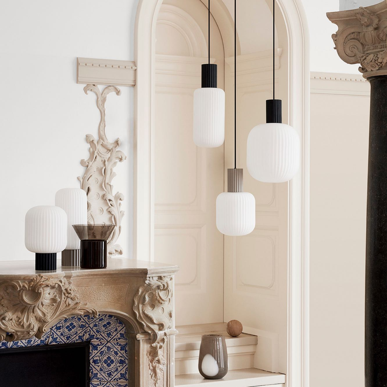 Take a peek at our Spring Summer 2021/22. We are loving these stunning Lolly lamps from Broste Copenhagen in white opal glass trimmed with black or sand metal, come in 3 pendant sizes and 2 table versions.  So excited with the new collection. . . #lollylamps #pendants #hanginglamps #opalglass #stunninglamps #lighting