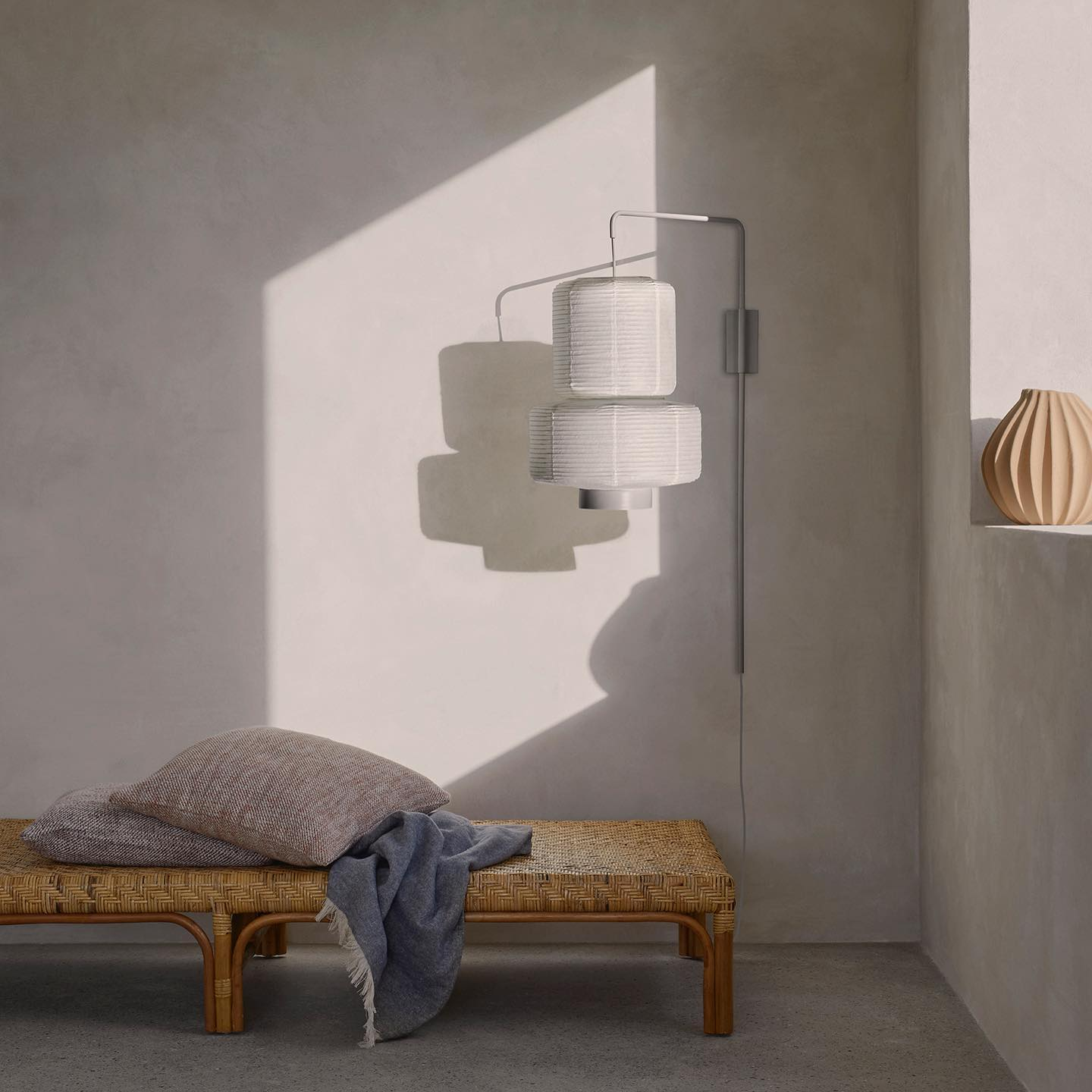 The WILLIAM lamps will cast a soft light through its' see-through rice paper. A simple yet functional design that provides serenity and balance in the interior. A new table lamp now available. . . #ricepaperlamp #lampshades #tablelamps #lighting